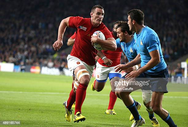 Louis Picamoles of France in action during the Rugby World Cup 2015 match between France and Italy at Twickenham Stadium on September 19 2015 in...