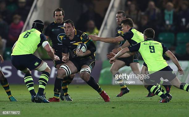 Louis Picamoles of Northampton charges upfield during the European Rugby Champions Cup match between Northampton Saints and Leinster at Franklin's...