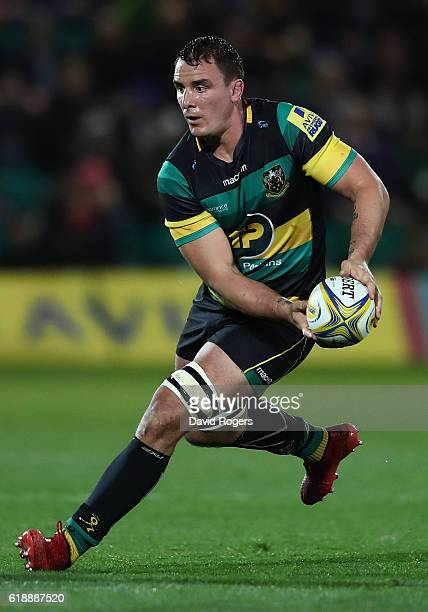Louis Picamoles of Northampton runs with the ball during the Aviva Premiership match between Northampton Saints and Gloucester Rugby at Franklin's...