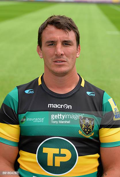 Louis Picamoles poses for a portrait during the Northampton Saints squad photocall for the 20162017 Aviva Premiership Rugby season on August 18 2016...