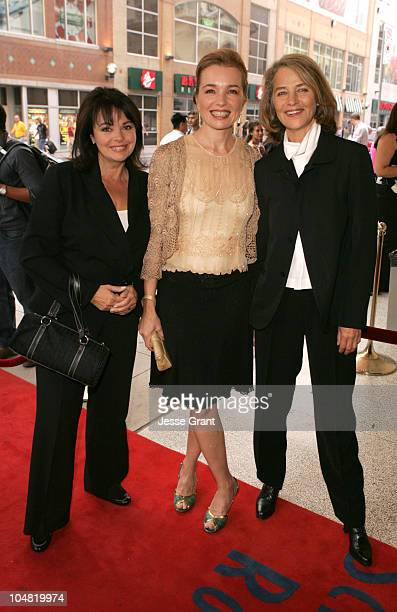 Louis Portal Karen Young and Charlotte Rampling during 2005 Toronto Film Festival 'Vers le Sud' Premiere at Visa Screening Room in Toronto Canada