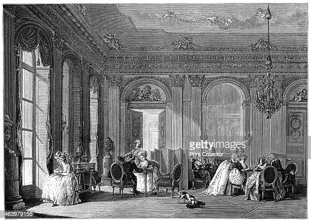 Louis Quinze LivingRoom An interior decorated in the style known as Louis Quinze popular c 17001750 during the regency and reign of King Louis XV...