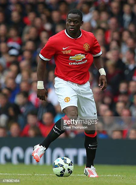 Louis Saha of Manchester United Legends during the Manchester United Foundation charity match between Manchester United Legends and Bayern Munich All...
