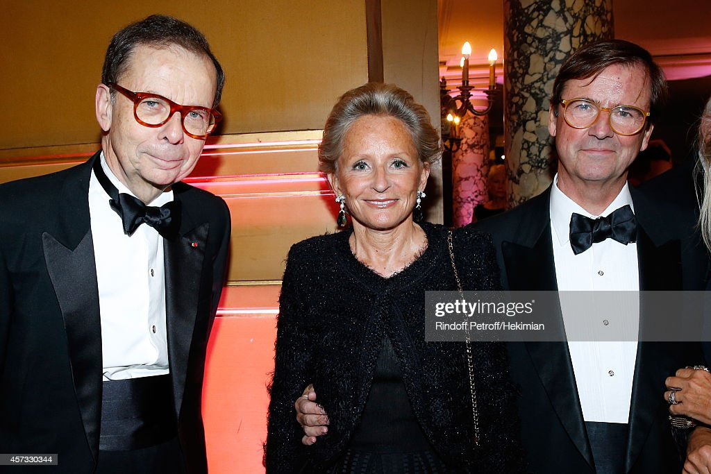 <a gi-track='captionPersonalityLinkClicked' href=/galleries/search?phrase=Louis+Schweitzer&family=editorial&specificpeople=555449 ng-click='$event.stopPropagation()'>Louis Schweitzer</a>, Alain boucheron and his wife attend the AROP Charity Gala with Opera 'L'enlevement au Serail' from Mozart at Opera Garnier on October 16, 2014 in Paris, France.
