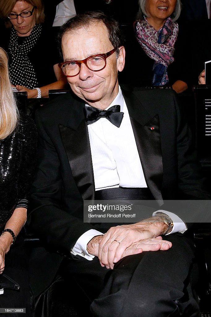 <a gi-track='captionPersonalityLinkClicked' href=/galleries/search?phrase=Louis+Schweitzer&family=editorial&specificpeople=555449 ng-click='$event.stopPropagation()'>Louis Schweitzer</a> attends AROP Gala at Opera Bastille with a representation of 'Aida' on October 15, 2013 in Paris, France.