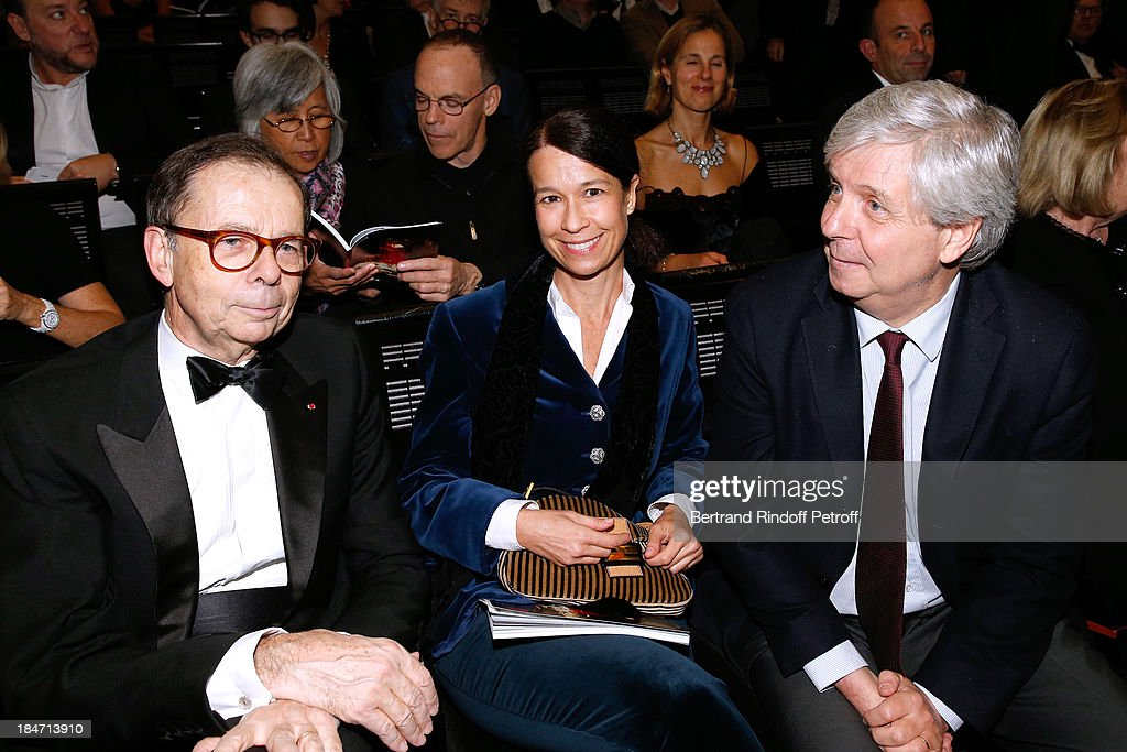 , <a gi-track='captionPersonalityLinkClicked' href=/galleries/search?phrase=Louis+Schweitzer&family=editorial&specificpeople=555449 ng-click='$event.stopPropagation()'>Louis Schweitzer</a>, Isabelle Lissner and Director of the National Opera Stephane Lissner attend AROP Gala at Opera Bastille with a representation of 'Aida' on October 15, 2013 in Paris, France.