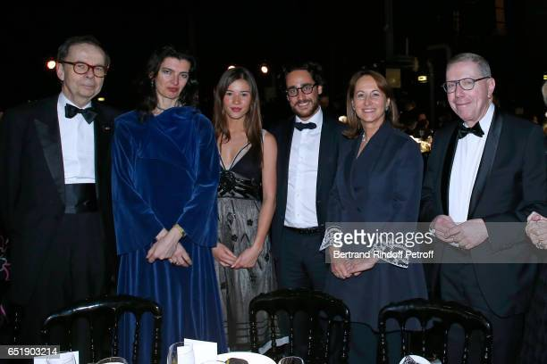 Louis Schweitzer Segolene Royal with her son Thomas Hollande and his companion Emilie Broussouwoux and President of Opera de Paris Bernard Stirn...
