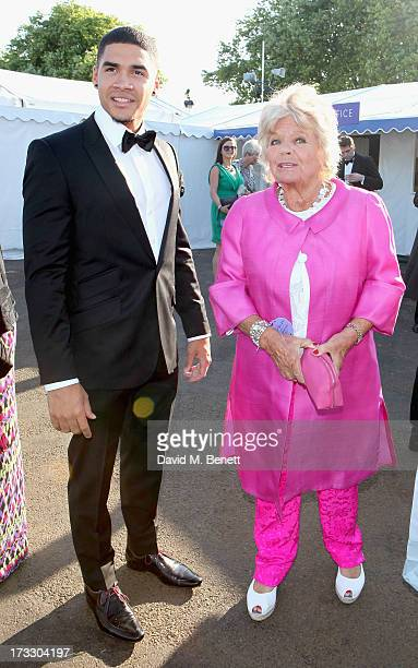 Louis Smith and Judith Chalmers attends The Henley Festival 2013 in partnership with BMW on July 11 2013 in HenleyonThames England