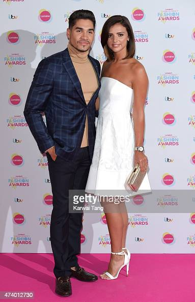 Louis Smith and Lucy Mecklenburgh attend Lorraine's High Street Fashion Awards at Grand Connaught Rooms on May 19 2015 in London England