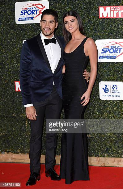 Louis Smith and Lucy Mecklenburgh attend the Daily Mirror Pride Of Sport Awards at Grosvenor House on November 25 2015 in London United Kingdom
