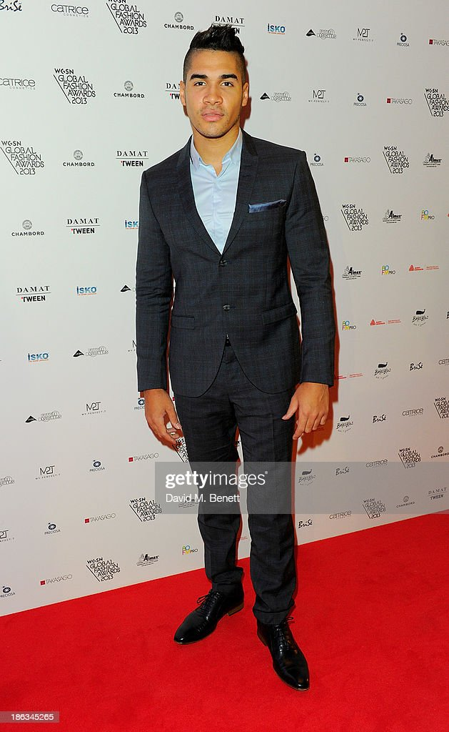 Louis Smith arrives at The WGSN Global Fashion Awards at the Victoria & Albert Museum on October 30, 2013 in London, England.