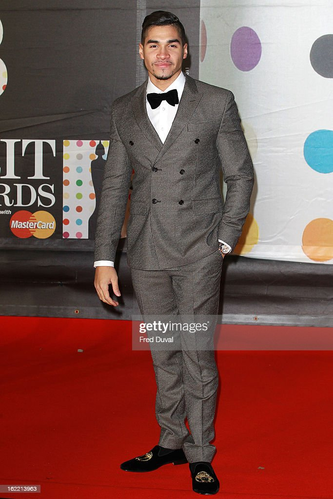 Louis Smith attends the Brit Awards at 02 Arena on February 20, 2013 in London, England.