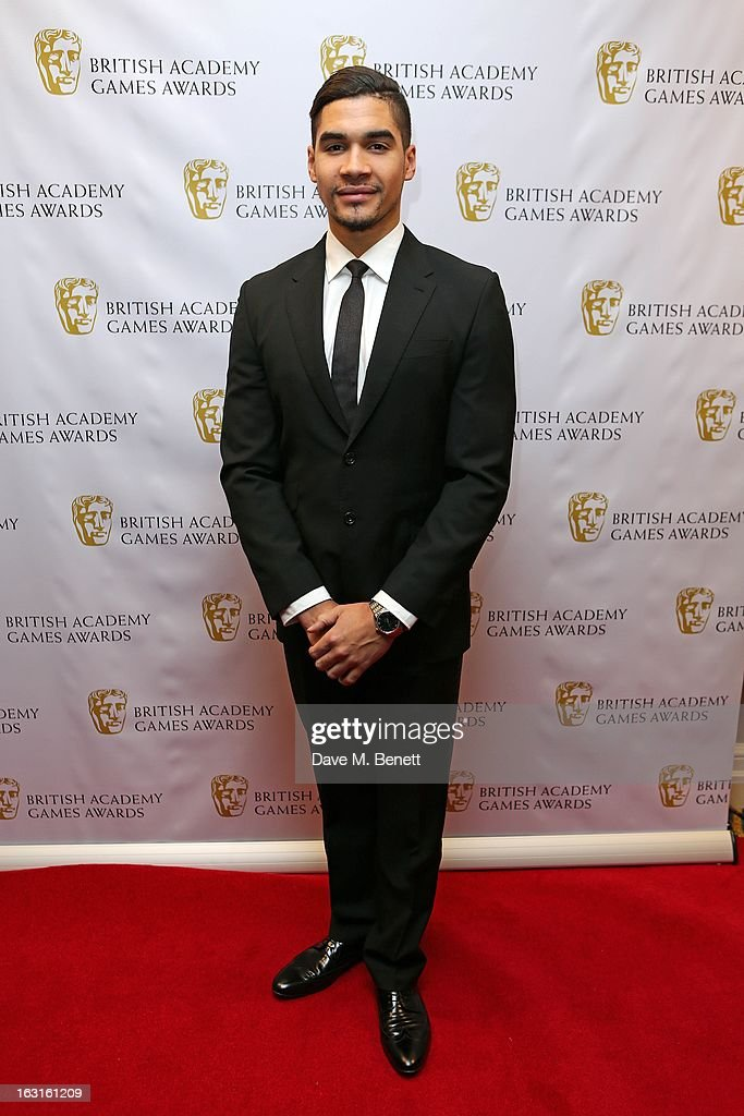 <a gi-track='captionPersonalityLinkClicked' href=/galleries/search?phrase=Louis+Smith+-+Gymnast&family=editorial&specificpeople=798756 ng-click='$event.stopPropagation()'>Louis Smith</a> attends The British Academy Games Awards at London Hilton on March 5, 2013 in London, England.
