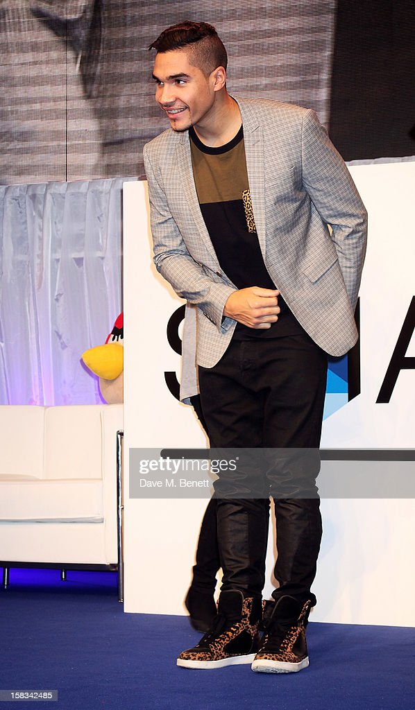 Louis Smith attends the Samsung Smart TV Angry Birds Party at Westfield Stratford City on December 13, 2012 in London, England.