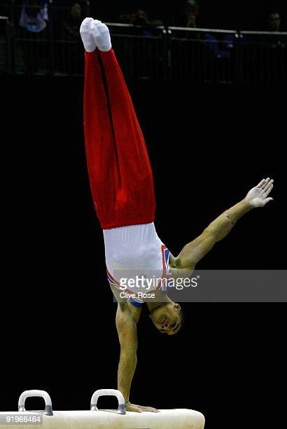 Louis Smith of Great Britain competes on the pommel horse during the Apparatus Finals on the fifth day of the Artistic Gymnastics World Championships...