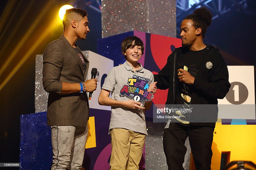 <a gi-track='captionPersonalityLinkClicked' href=/galleries/search?phrase=Louis+Smith+-+Gymnast&family=editorial&specificpeople=798756 ng-click='$event.stopPropagation()'>Louis Smith</a> onstage at the Radio One Teen Awards at Wembley Arena on October 7, 2012 in London, England.