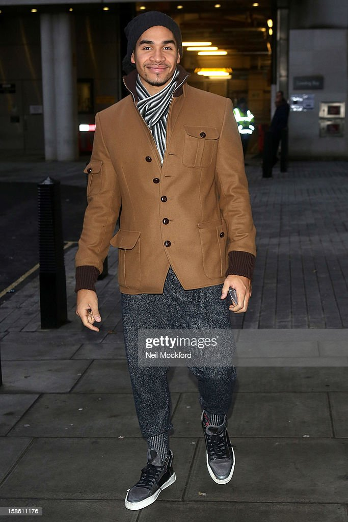 Louis Smith seen at BBC Radio 1 ahead of the Strictly Come Dancing Final on December 21, 2012 in London, England.