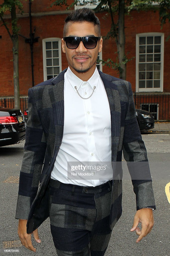 <a gi-track='captionPersonalityLinkClicked' href=/galleries/search?phrase=Louis+Smith+-+Gymnast&family=editorial&specificpeople=798756 ng-click='$event.stopPropagation()'>Louis Smith</a> seen at the Stella McCartney Collection on September 17, 2013 in London, England.