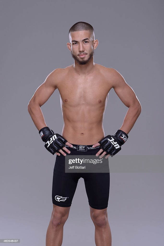 Louis Smolka poses for a portrait during a UFC photo session on January 12, 2014 in Duluth, Georgia.