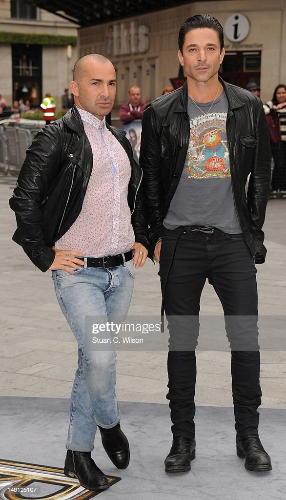 Louis Spence (L) attends the premiere for Rock Of Ages at Odeon Leicester Square on June 10, 2012 in London, England.