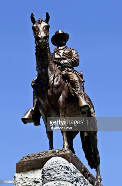 Louis T Rebisso's Ulysses S Grant Memorial sits outside the southern entrance to Lincoln Park Zoo in Chicago Illinois on MAY 24 2013