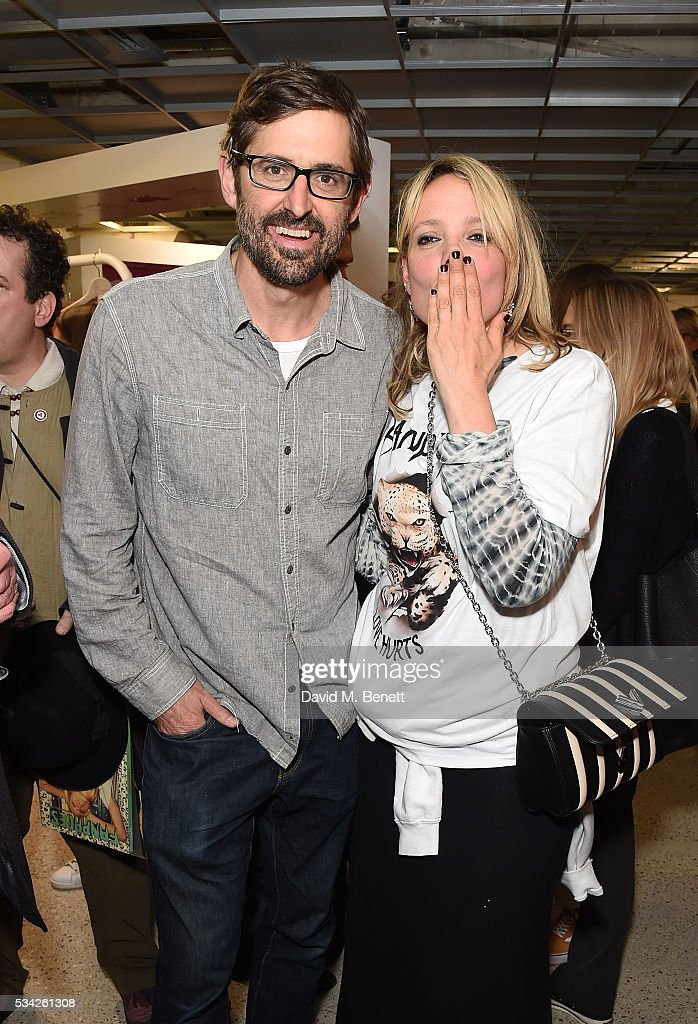 <a gi-track='captionPersonalityLinkClicked' href=/galleries/search?phrase=Louis+Theroux&family=editorial&specificpeople=4345690 ng-click='$event.stopPropagation()'>Louis Theroux</a> and <a gi-track='captionPersonalityLinkClicked' href=/galleries/search?phrase=Bay+Garnett&family=editorial&specificpeople=239485 ng-click='$event.stopPropagation()'>Bay Garnett</a> attend a party hosted by <a gi-track='captionPersonalityLinkClicked' href=/galleries/search?phrase=Bay+Garnett&family=editorial&specificpeople=239485 ng-click='$event.stopPropagation()'>Bay Garnett</a> to celebrate the launch of her latest project 'Fanpages' enjoying Perrier-Jot at Dover Street Market on May 25, 2016 in London, England.