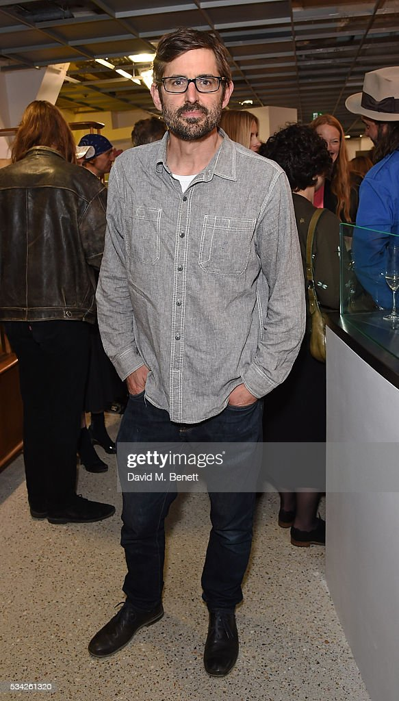 <a gi-track='captionPersonalityLinkClicked' href=/galleries/search?phrase=Louis+Theroux&family=editorial&specificpeople=4345690 ng-click='$event.stopPropagation()'>Louis Theroux</a> attends a party hosted by Bay Garnett to celebrate the launch of her latest project 'Fanpages' enjoying Perrier-Jot at Dover Street Market on May 25, 2016 in London, England.