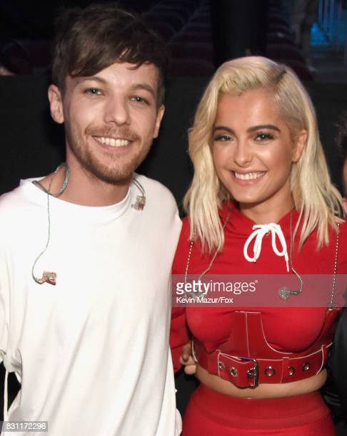 Louis Tomlinson and Bebe Rexha attend Teen Choice Awards 2017 at Galen Center on August 13 2017 in Los Angeles California