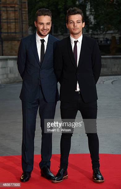 Louis Tomlinson and Liam Payne attend the Believe in Magic Cinderella Ball at Natural History Museum on August 10 2015 in London England