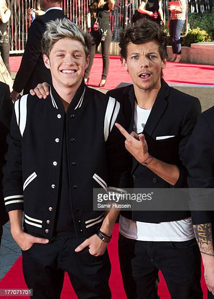 Louis Tomlinson and Niall Horan of One Direction attend the World Premiere of 'One Direction This Is Us' at Empire Leicester Square on August 20 2013...