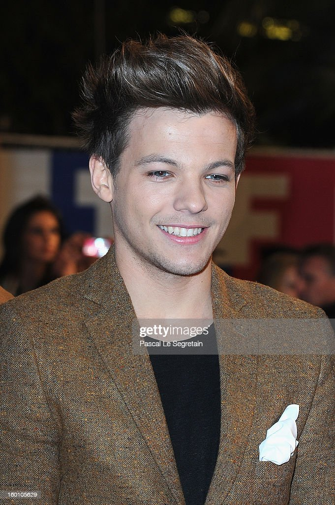 Louis Tomlinson attends the Music Awards 2013 at Palais des Festivals on January 26, 2013 in Cannes, France.