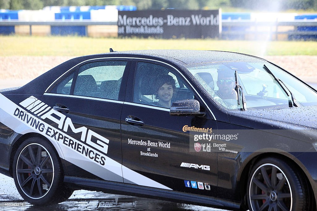 Louis tomlinson during an amg driving experience at for Mercedes benz driving experience
