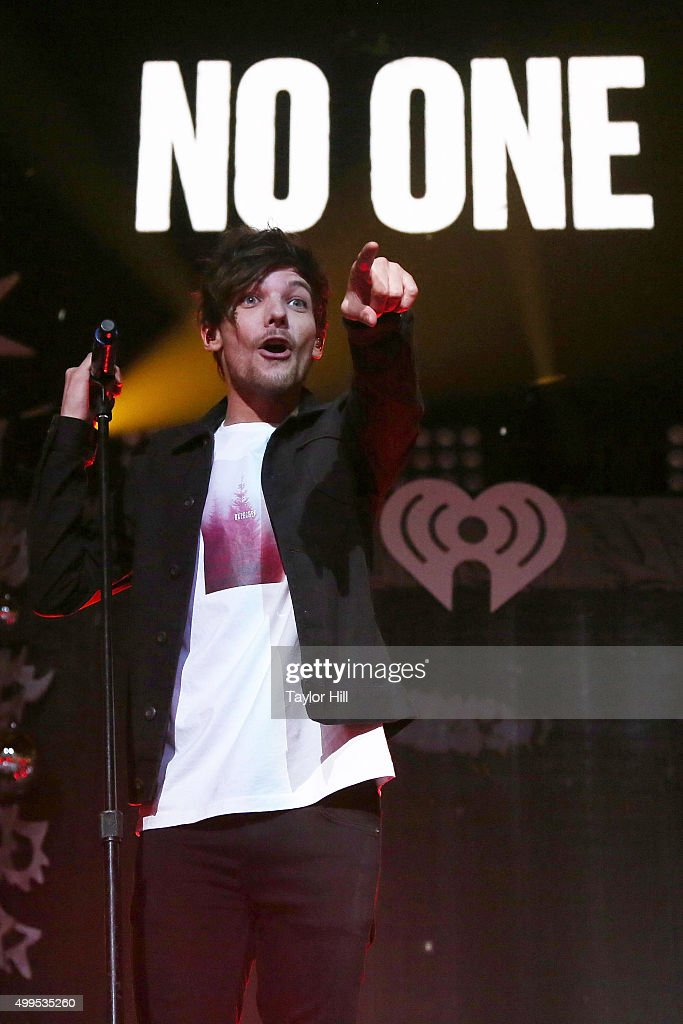 Louis Tomlinson of One Direction performs during 106.1 KISS FM's Jingle Ball at American Airlines Center on December 1, 2015 in Dallas, Texas.