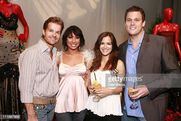 Louis Van Amstel Cheryl Burke Rebecca Budig and Bob Guiney