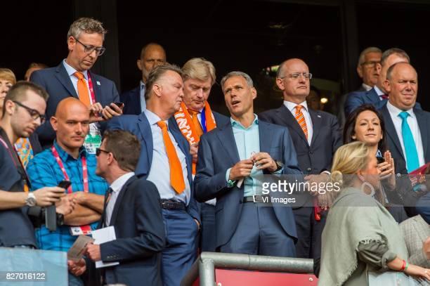 Louis van Gaal amnd Marco van Basten during the UEFA WEURO 2017 final match between The Netherlands and Denmark at the Grolsch Veste on August 06...