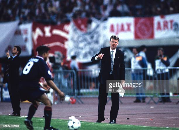 Louis van Gaal during the Champions League final match between Ajax Amsterdam and AC Milan on May 24 1995 in Vienna Austria