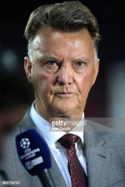 Louis van Gaal during the UEFA Champions League group B match between Paris SaintGermain and Bayern Muenchen at Parc des Princes on September 27 2017...
