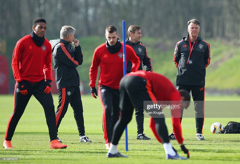 manchester united training session press conference getty images. Black Bedroom Furniture Sets. Home Design Ideas