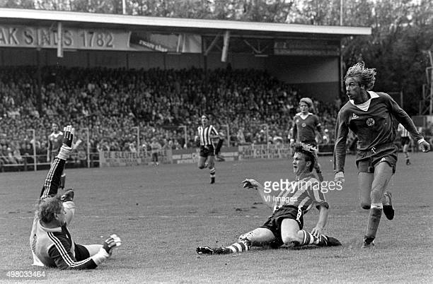 Louis van Gaal scores for Sparta Rotterdam against Ajax on October 4 1981 at Rotterdam The Netherlands