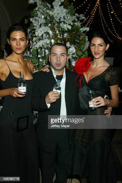Louis Verdad designer and models during The Garden of Evian at Whisper Lounge at The Grove in Los Angeles California United States