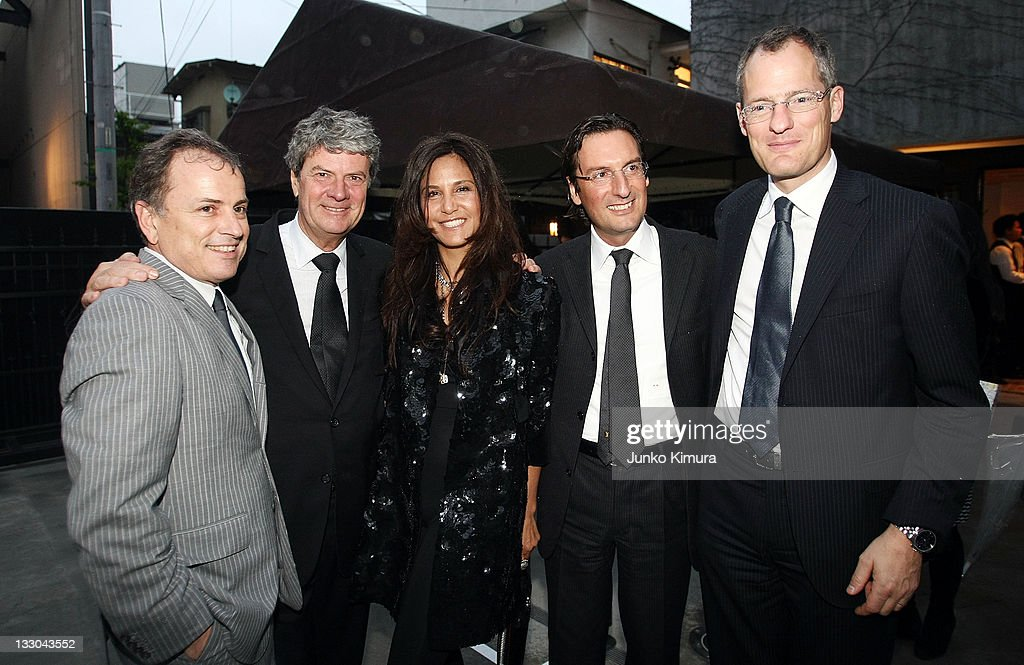 Louis Vuitton CEO Yves Carcelle Laurie Lynn Stark and guests attend the Chrome Hearts Tokyo Flagship Renewal Event on April 24 2008 in Tokyo Japan