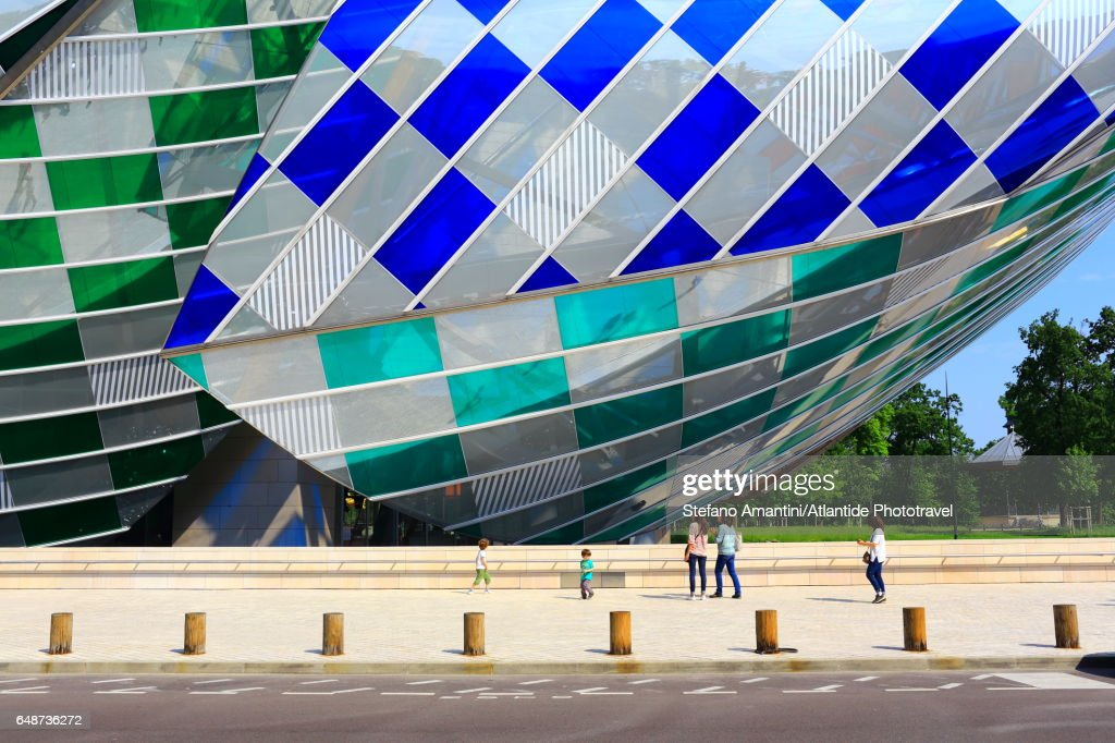 Louis Vuitton foundation in Bois de Boulogne : Stock-Foto