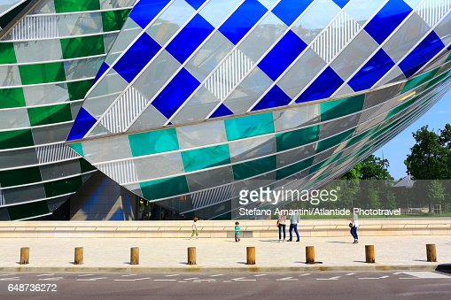 Louis Vuitton foundation in Bois de Boulogne : Foto stock