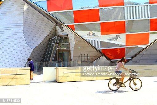 Louis Vuitton foundation in Bois de Boulogne : Stock-Foto