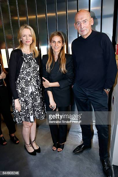Louis Vuitton's executive vice president Delphine Arnault Creative director of the Italian jewellery brand Repossi Gaia Repossi and architect Rem...