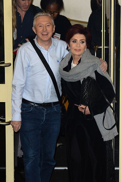 Louis Walsh and Sharon Osbourne seen leaving the Fountain Studios after X Factor on October 9 2016 in London England