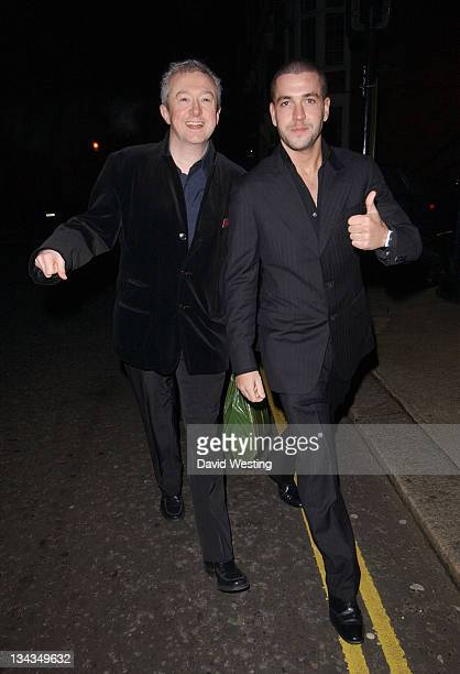 Louis Walsh and Shayne Ward during Sharon Osbourne and Ozzy Osbourne's Christmas Party December 19 2006 at 30 Pavilion Road in London Great Britain