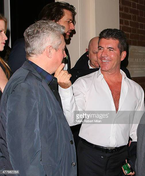 Louis Walsh and Simon Cowell at the Arts club on March 11 2014 in London England