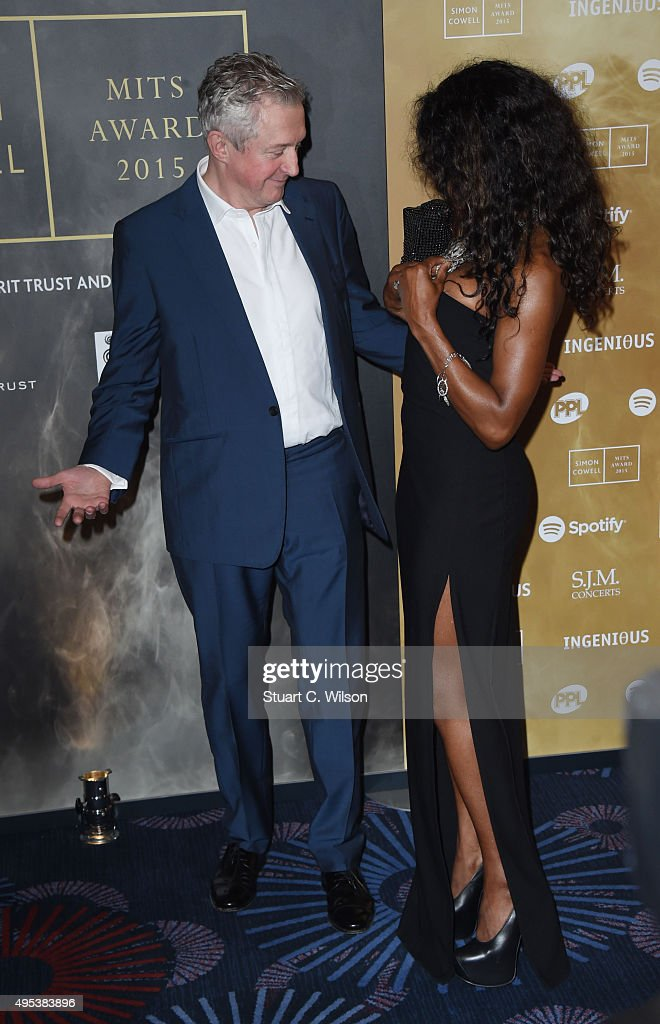 Louis Walsh and Sinitta attend the Music Industry Trust Awards at The Grosvenor House Hotel on November 2, 2015 in London, England.