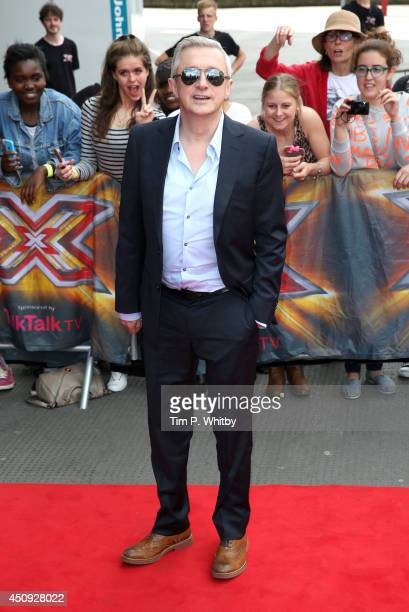 Louis Walsh arrives for the London Auditions of X Factor at Emirates Stadium on June 20 2014 in London England